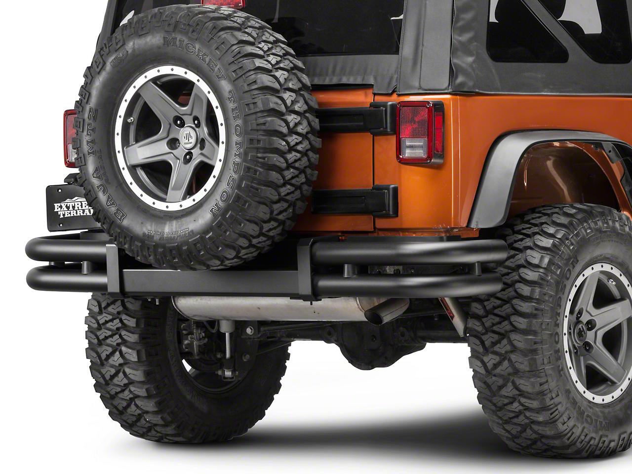 Mopar Tubular Rear Bumper - Black (07-18 Jeep Wrangler JK)