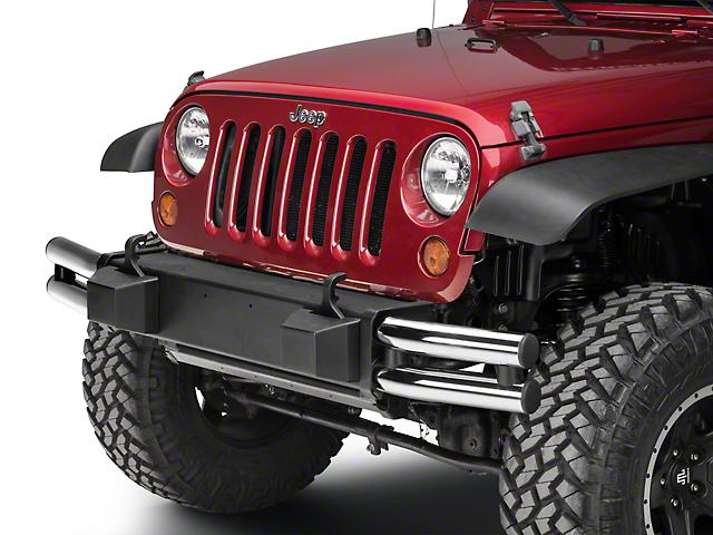 Mopar Tubular Front Bumper - Chrome (07-18 Jeep Wrangler JK)