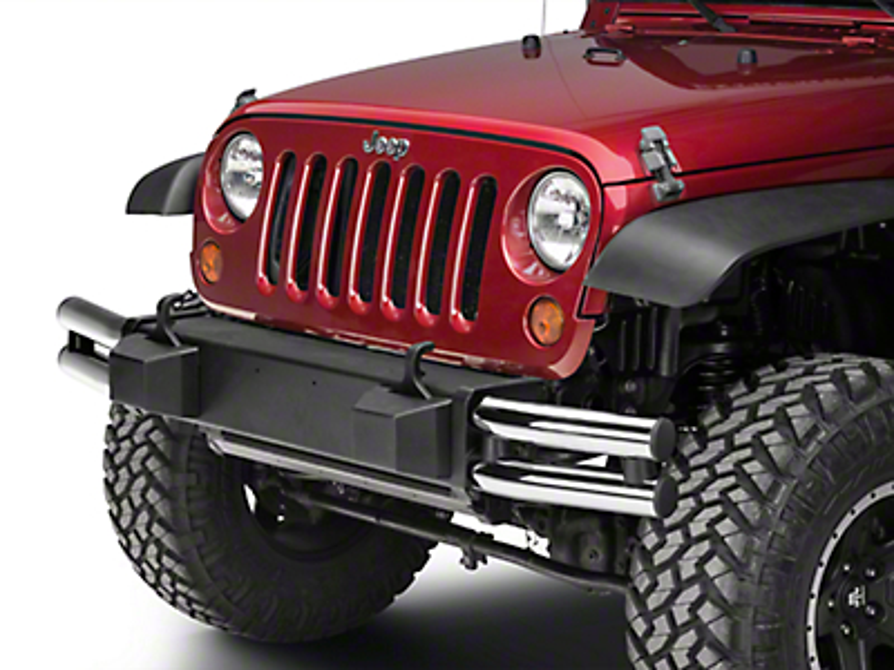 Mopar Tubular Front Bumper - Chrome (07-18 Wrangler JK)