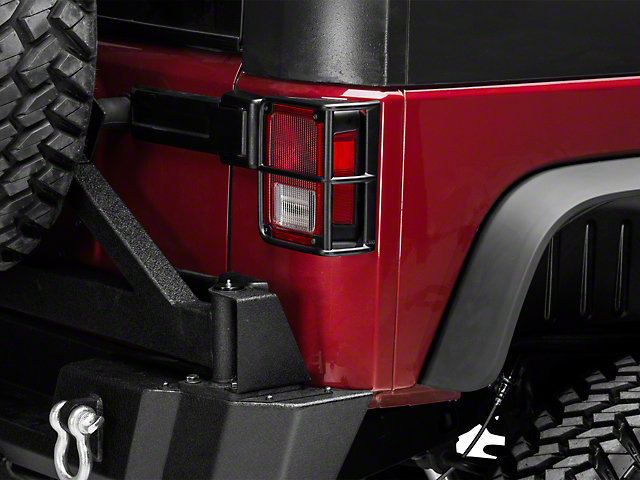 Mopar Tail Light Guards - Satin Black (07-18 Wrangler JK)