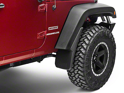 Mopar Front Deluxe Molded Splash Guards w/ Jeep Logo (07-18 Jeep Wrangler JK)