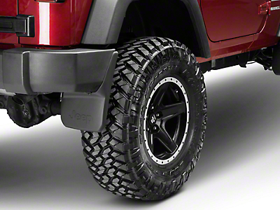 Mopar Rear Deluxe Molded Splash Guards w/ Jeep Logo (07-18 Wrangler JK)