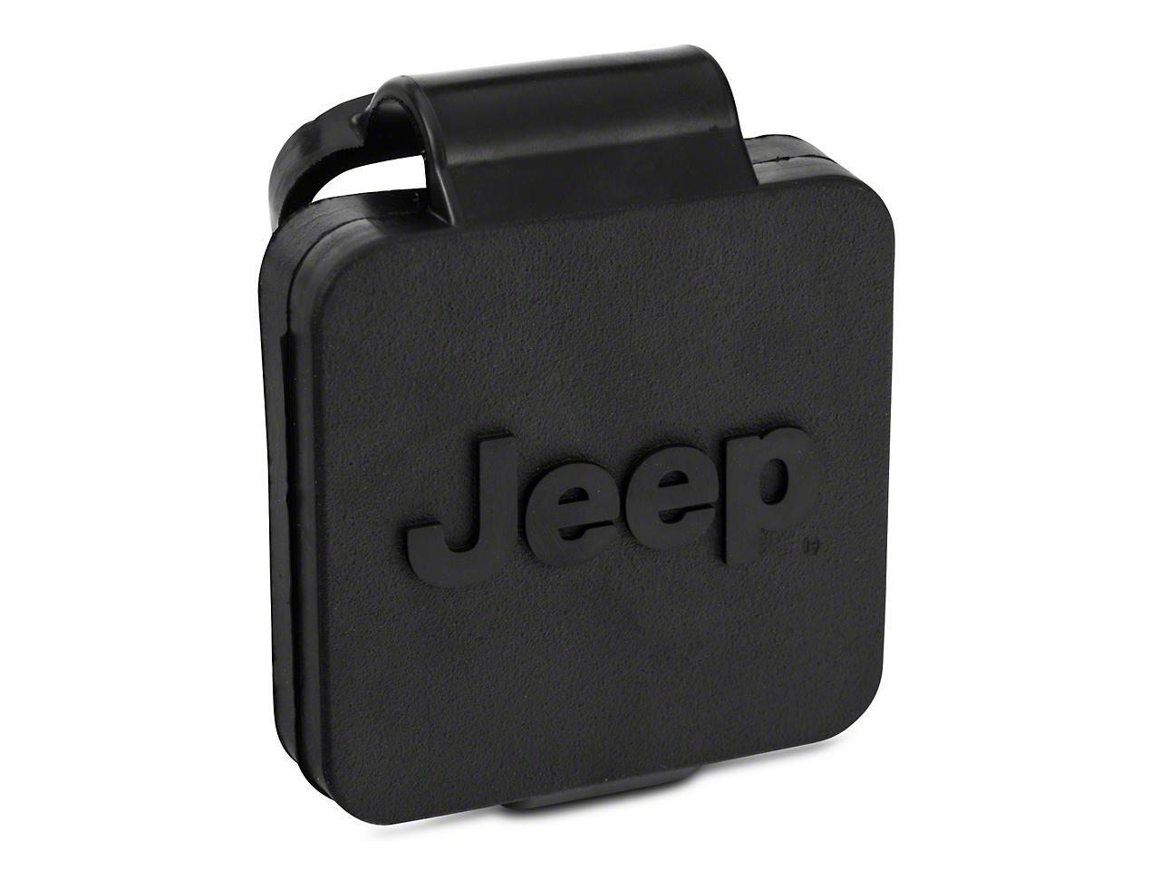 Mopar 2 in. Hitch Receiver Plug w/ Jeep Logo (87-18 Wrangler YJ, TJ, JK & JL)