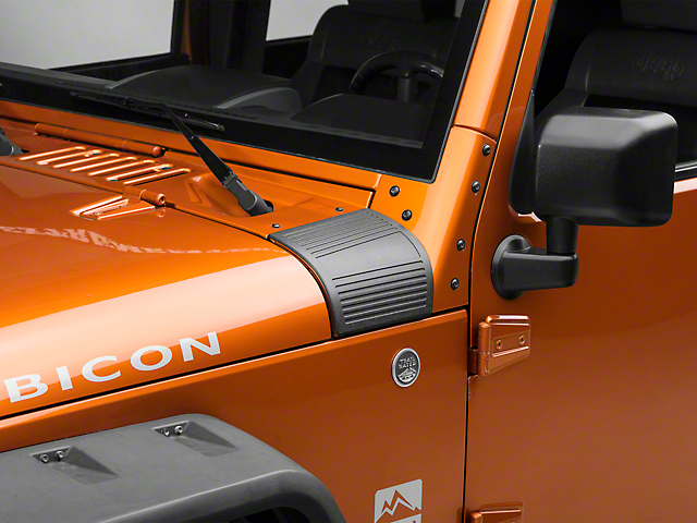 RedRock 4x4 Body Armor Cowl Guards - Black (07-18 Jeep Wrangler JK)