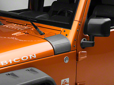 RedRock 4x4 Body Armor Cowl Guards - Black (07-18 Wrangler JK)