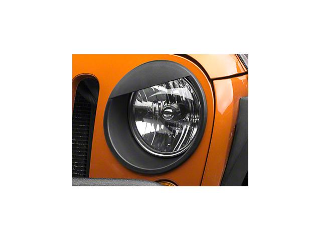 RedRock 4x4 Angry Eye Headlight Bezels - Black (07-18 Jeep Wrangler JK)