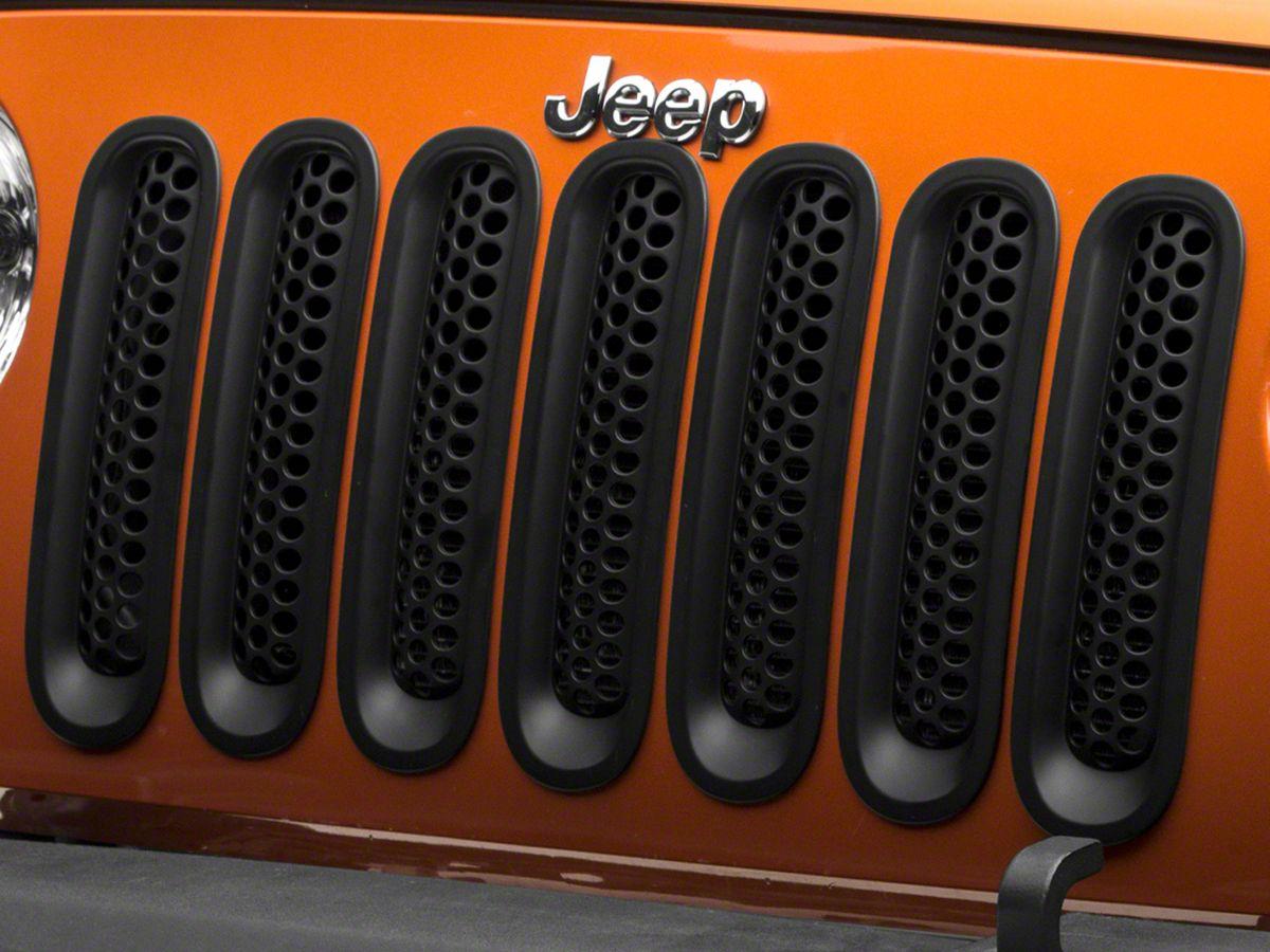 Jeep Matte Black >> Redrock 4x4 Honeycomb Grille Inserts Matte Black 07 18 Jeep Wrangler Jk