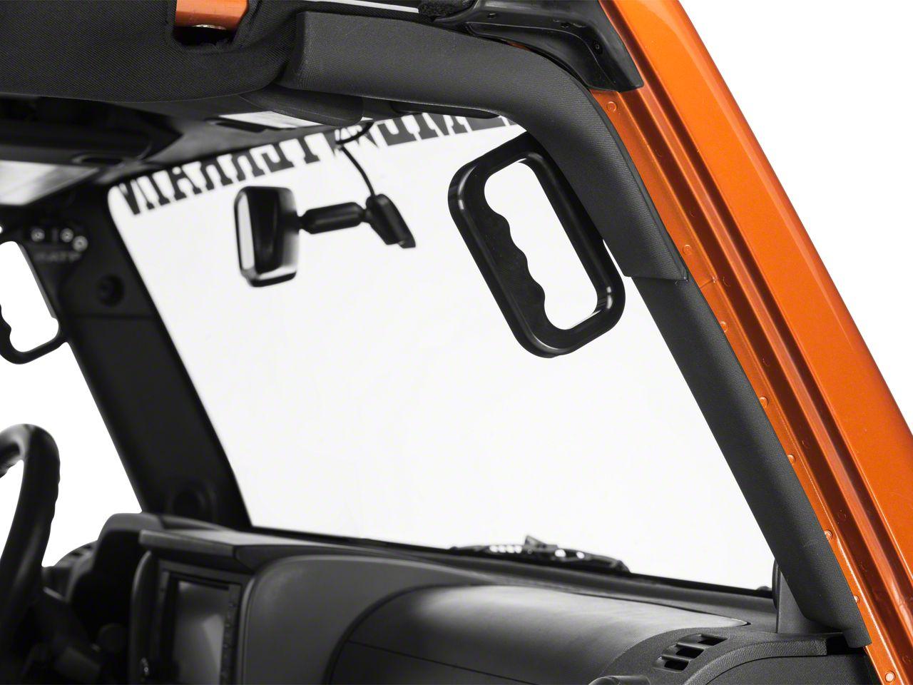 ATP Front Billet Grab Handles - Black (07-18 Jeep Wrangler JK)