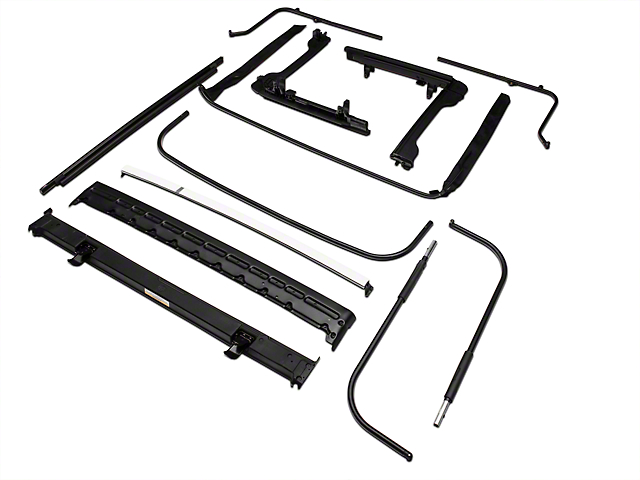 bestop oe style soft top replacement bow frame kit 07 17 wrangler jk 2 door