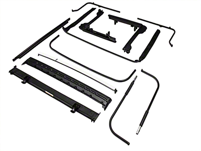 Bestop OE Style Soft Top Replacement Bow & Frame Kit (07-18 Jeep Wrangler JK 2 Door)