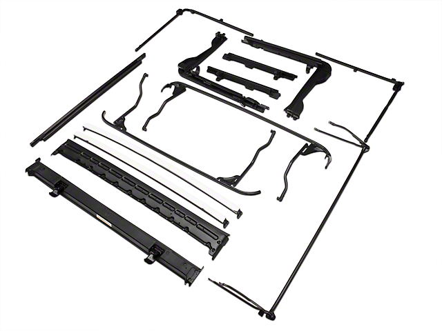 bestop oe style soft top replacement bow frame kit 07 17 wrangler jk 4 door