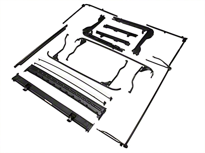 Bestop OE Style Soft Top Replacement Bow & Frame Kit (07-09 Jeep Wrangler JK 4 Door w/ Bestop Supertop NX; 10-18 Jeep Wrangler JK 4 Door w/ Factory Soft Top or Bestop Supertop NX)