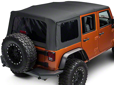 Barricade Complete Replacement Soft Top w/Tinted Windows and Hardware (07-18 Wrangler JK 4 Door)