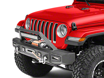 Barricade Vision Series Front Bumper w/ LED Fog Lights, Work Lights & 20 in. LED Light Bar (2018 Jeep Wrangler JL)