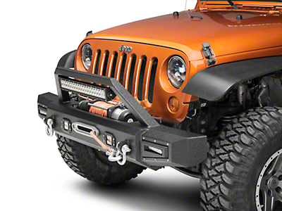 Barricade Vision Series Front Bumper w/ LED Fog Lights, Work Lights & 20 in. LED Light Bar (07-18 Wrangler JK)