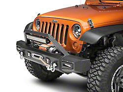 Barricade Vision Series Front Bumper w/ LED Fog Lights, Work Lights & 20 in. LED Light Bar (07-18 Jeep Wrangler JK)