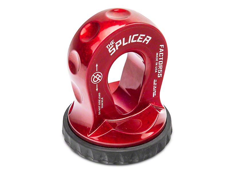 Factor 55 Splicer Shackle Mount - Red (87-18 Wrangler YJ, TJ & JK)