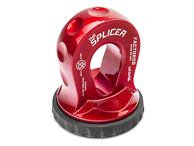Factor 55 Splicer Shackle Mount - Red (87-18 Wrangler YJ, TJ, JK & JL)
