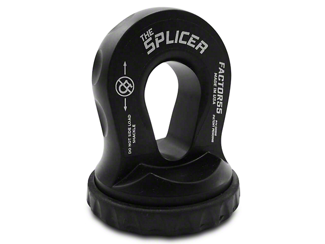 Factor 55 Splicer Shackle Mount - Black (87-18 Wrangler YJ, TJ, JK & JL)