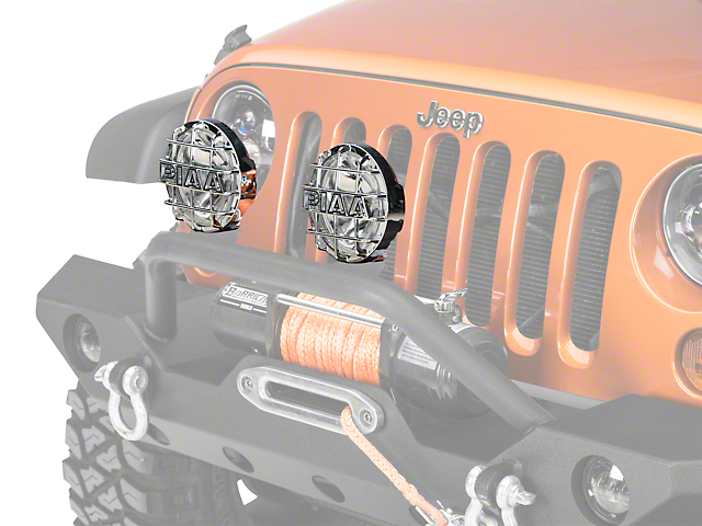 PIAA 520 Series 6 in. Round Chrome SMR Halogen Lights - Driving Beam - Pair (87-20 Jeep Wrangler YJ, TJ, JK & JL)