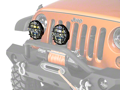 PIAA 520 Series 6 in. Round Ion Yellow Halogen Light - Driving Beam (87-18 Jeep Wrangler YJ, TJ, JK & JL)