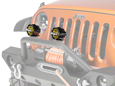 PIAA LP530 3.5 in. Round Ion Yellow LED Lights - Driving Beam - Pair (87-18 Wrangler YJ, TJ & JK)