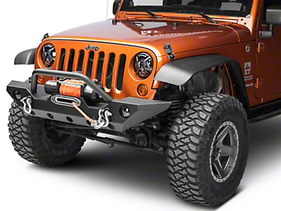 Rugged Ridge Elite Headlight Euro Guards - Textured Black (07-18 Jeep Wrangler JK)