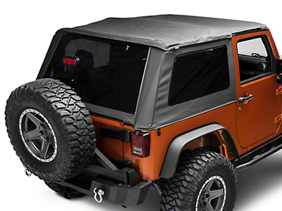 Bestop Trektop NX Glide Soft Top - Black Diamond (07-18 Wrangler JK 2 Door)