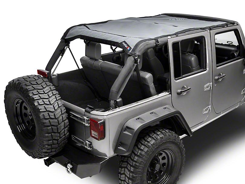 JTopsUSA Safari Mesh Top - Shiny Gray (07-18 Jeep Wrangler JK 4 Door)