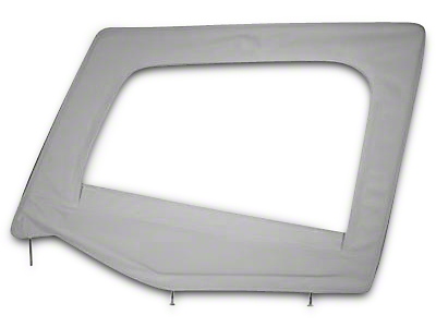 Smittybilt Soft Top Upper Door Skin w/ Frame - Denim Gray (87-95 Jeep Wrangler YJ)