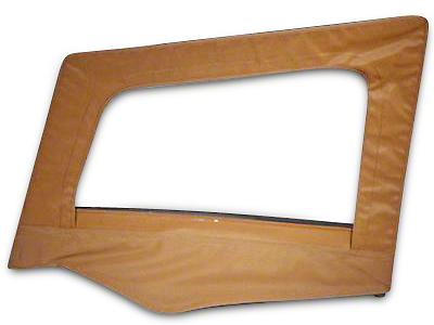 Smittybilt Soft Top Upper Door Skin w/ Frame - Denim Spice (87-95 Jeep Wrangler YJ)