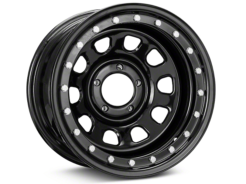 Pro Comp Wheels Steel Series 252 Street Lock Gloss Black Wheel; 15x8 (87-95 Jeep Wrangler YJ)