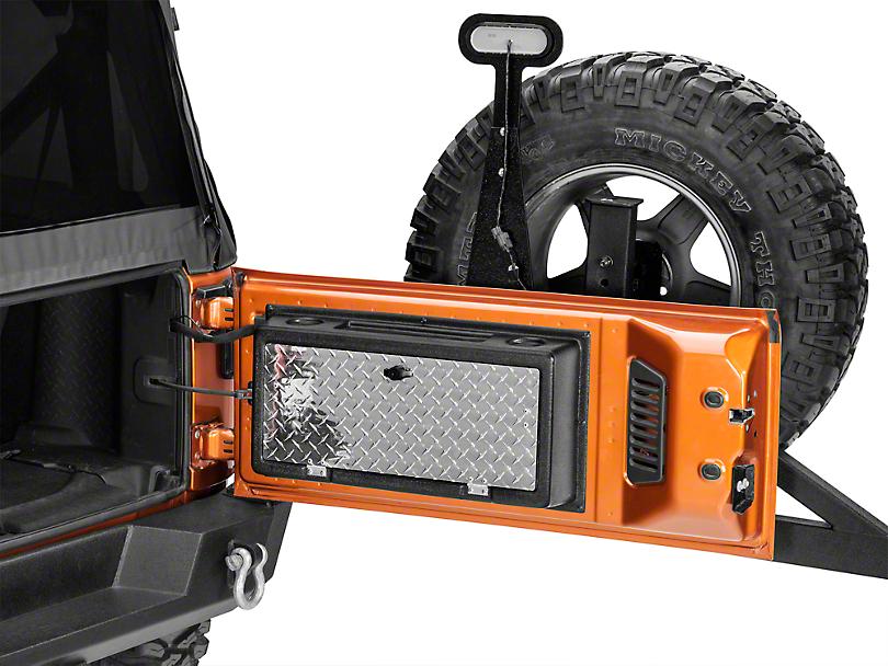 MORryde Storegate Tailgate Storage Compartment (07-18 Jeep Wrangler JK)