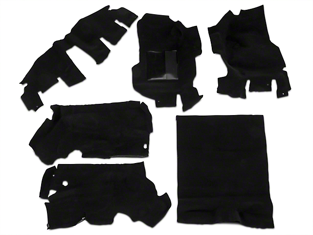 OPR Complete Molded Replacement Carpet - Black (97-02 Jeep Wrangler TJ)