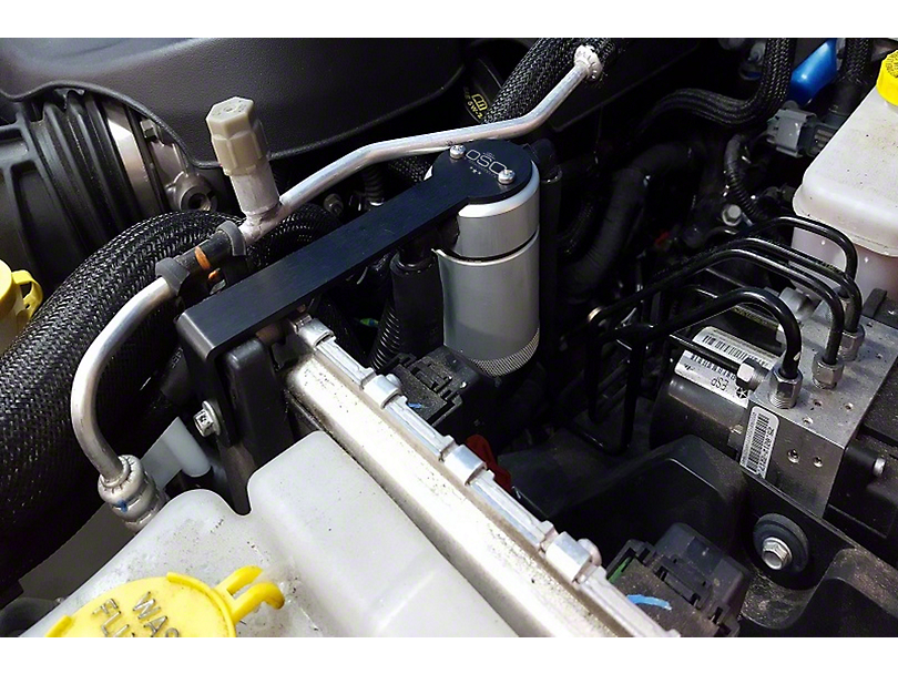 JLT V3.0 Satin Oil Separator - Driver Side (12-18 3.6L Jeep Wrangler JK)