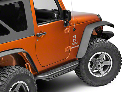 Snyper Triple Tube Rock Rails - Textured Black (07-18 Wrangler JK 2 Door)
