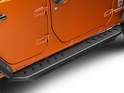 Snyper Triple Tube Rock Rails - Textured Black (07-18 Jeep Wrangler JK 4 Door)