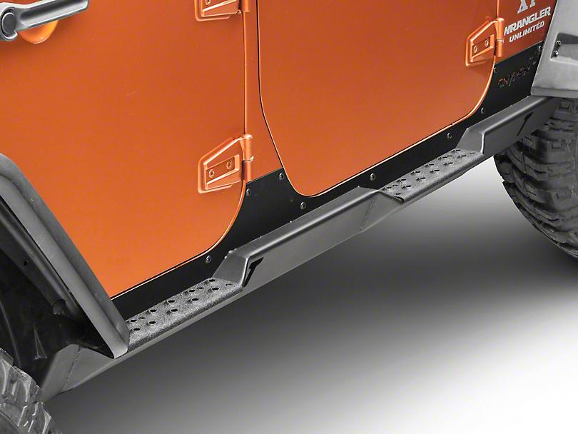 Snyper Rock Slider Steps - Textured Black (07-18 Jeep Wrangler JK 4 Door)