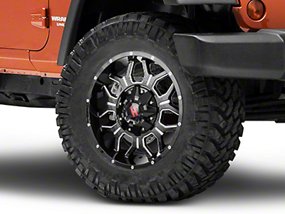 Havok Off-Road H-106 Black Machined Wheel - 18x9 (07-18 Wrangler JK)