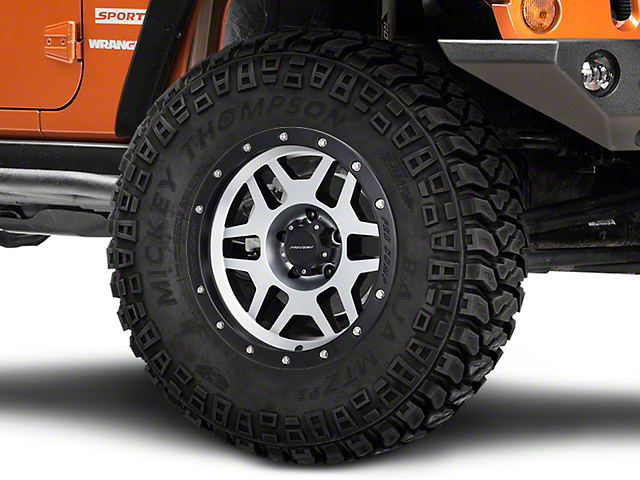 Pro Comp Wheels Phaser Black Machined Wheel; 17x9 (07-18 Jeep Wrangler JK)