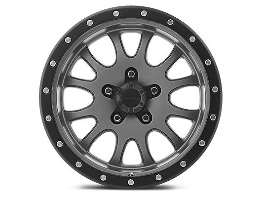 Pro Comp Alloy Series 44 Syndrome Matte Graphite Wheel - 17x9 (07-18 Wrangler JK; 2018 Wrangler JL)