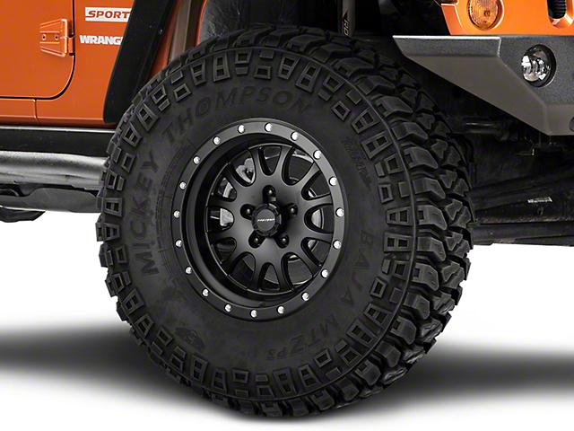 Pro Comp Wheels Syndrome Satin Black Wheel; 17x9 (07-18 Jeep Wrangler JK)