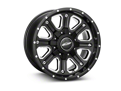 Pro Comp Alloy Series 82 Phantom Satin Black Milled Wheel - 17x9 (07-18 Wrangler JK)