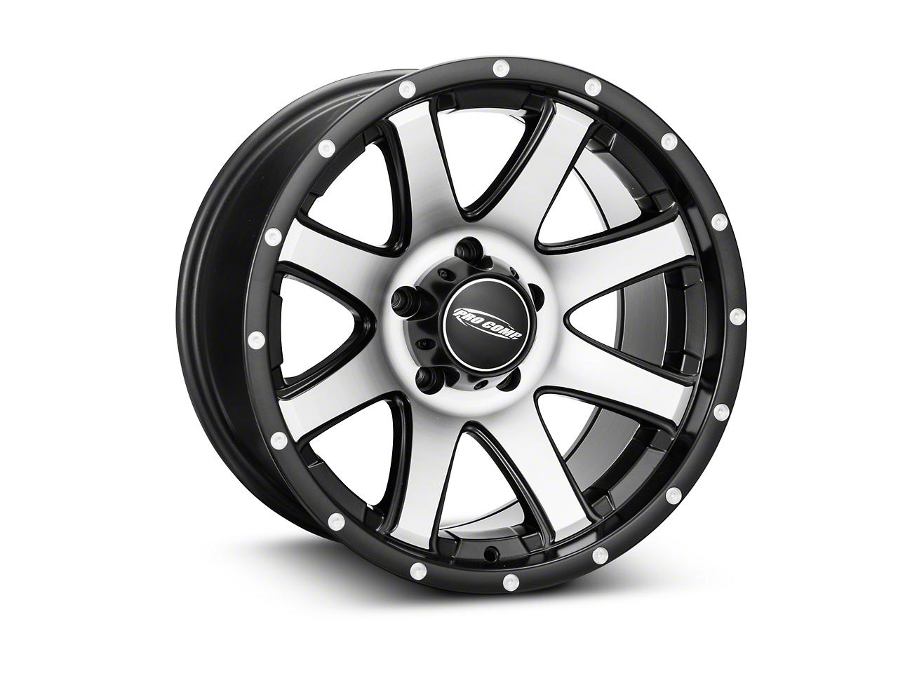 Pro Comp Alloy Series 86 Reflex Black Machined Wheel - 17x9 (07-18 Wrangler JK)