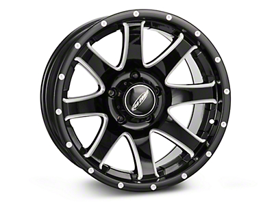 Pro Comp Alloy Series 86 Reflex Gloss Black Milled Wheel - 17x9 (07-18 Wrangler JK)