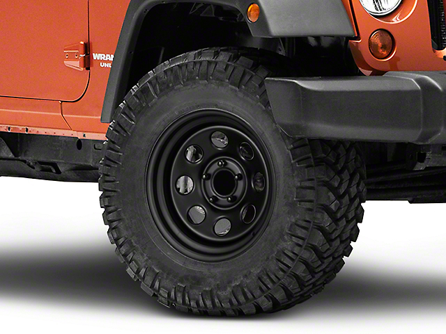 Pro Comp Wheels Series 97 Rock Crawler Flat Black Wheel; 17x9 (07-18 Jeep Wrangler JK)