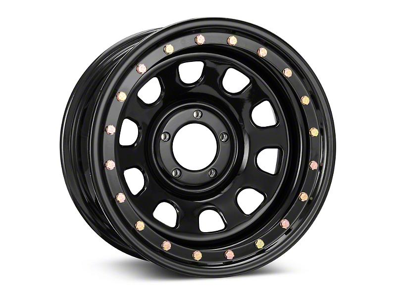 Pro Comp Wheels Steel Series 252 Street Lock Gloss Black Wheel; 16x8 (87-95 Jeep Wrangler YJ)