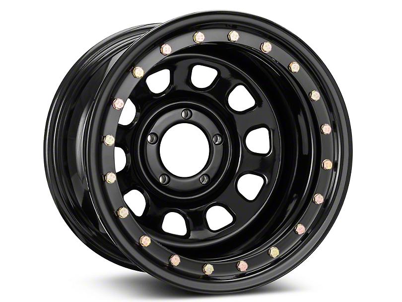 Pro Comp Wheels Steel Series 252 Street Lock Gloss Black Wheel; 15x10 (87-95 Jeep Wrangler YJ)