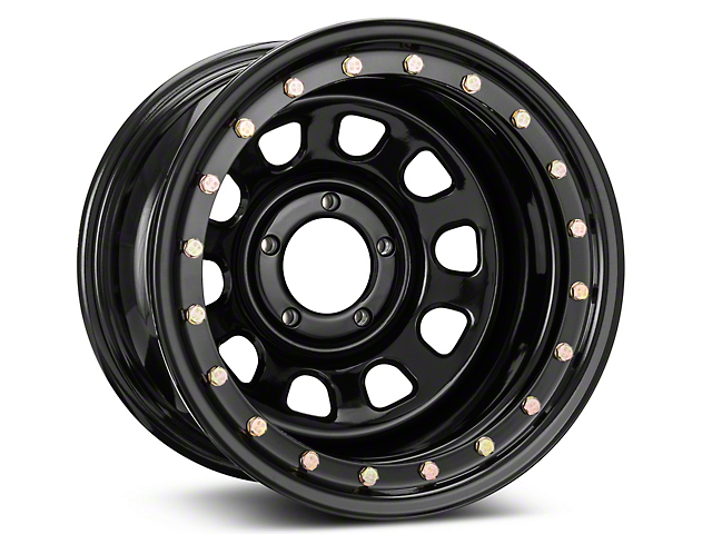 Pro Comp Wheels Steel Series 252 Street Lock Gloss Black Wheel; 15x10 (87-95 Jeep Wrangler YJ)
