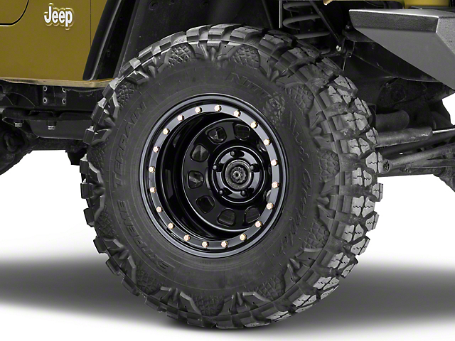 Pro Comp Steel Wheels Steel Series 252 Street Lock Gloss Black Wheel - 15x10 (87-06 Jeep Wrangler YJ & TJ)